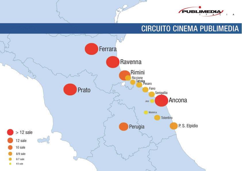 Mappa diffusionale cinema