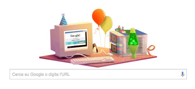 Doodle autocelebrativo per Google