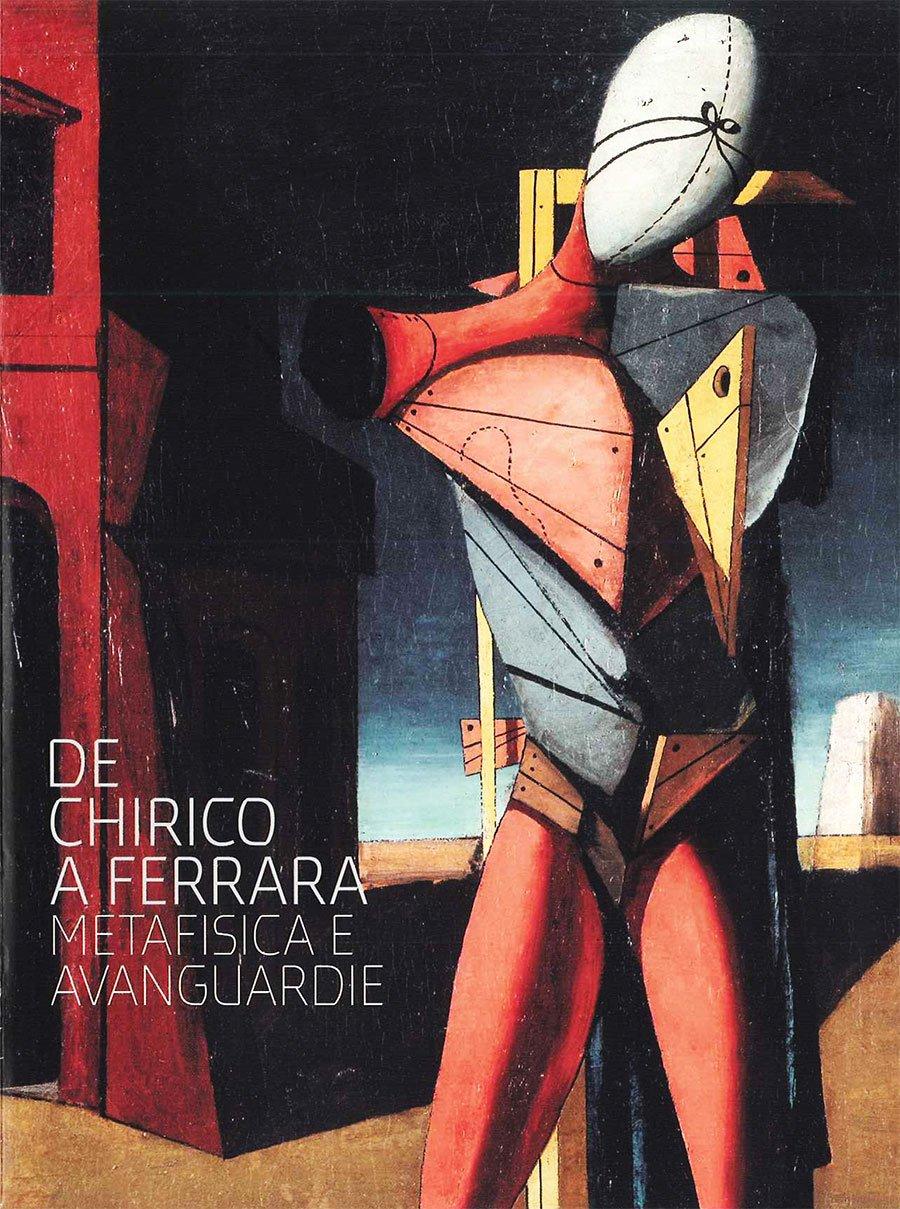 Copertina del pieghevole della mostra di De Chirico a Ferrara