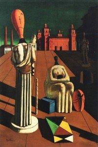 Mostra di De Chirico a Ferrara Le Muse inquietanti (1960-62). Olio su tela, cm 35x30.