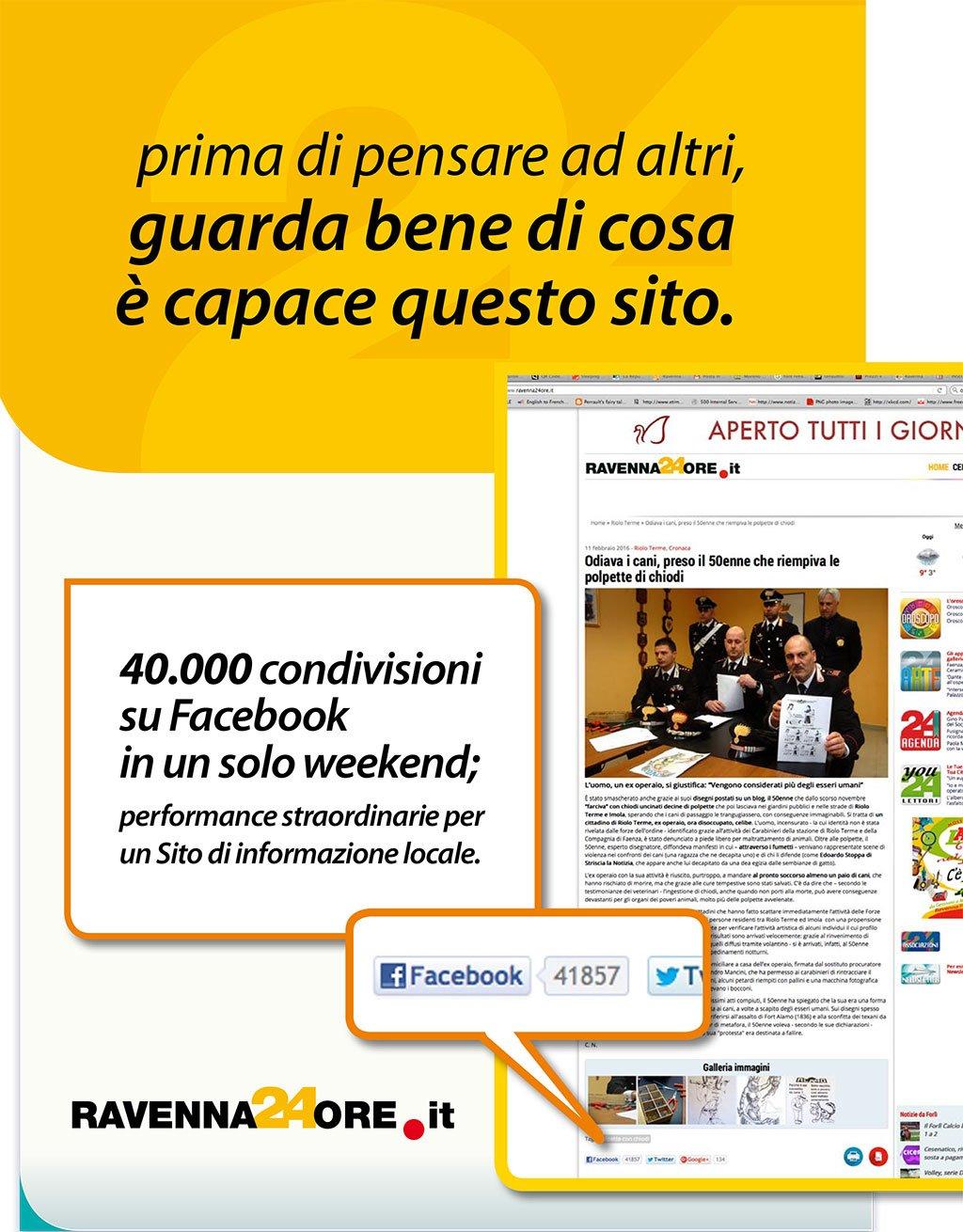 Oltre 40 mila condivisioni su Facebook