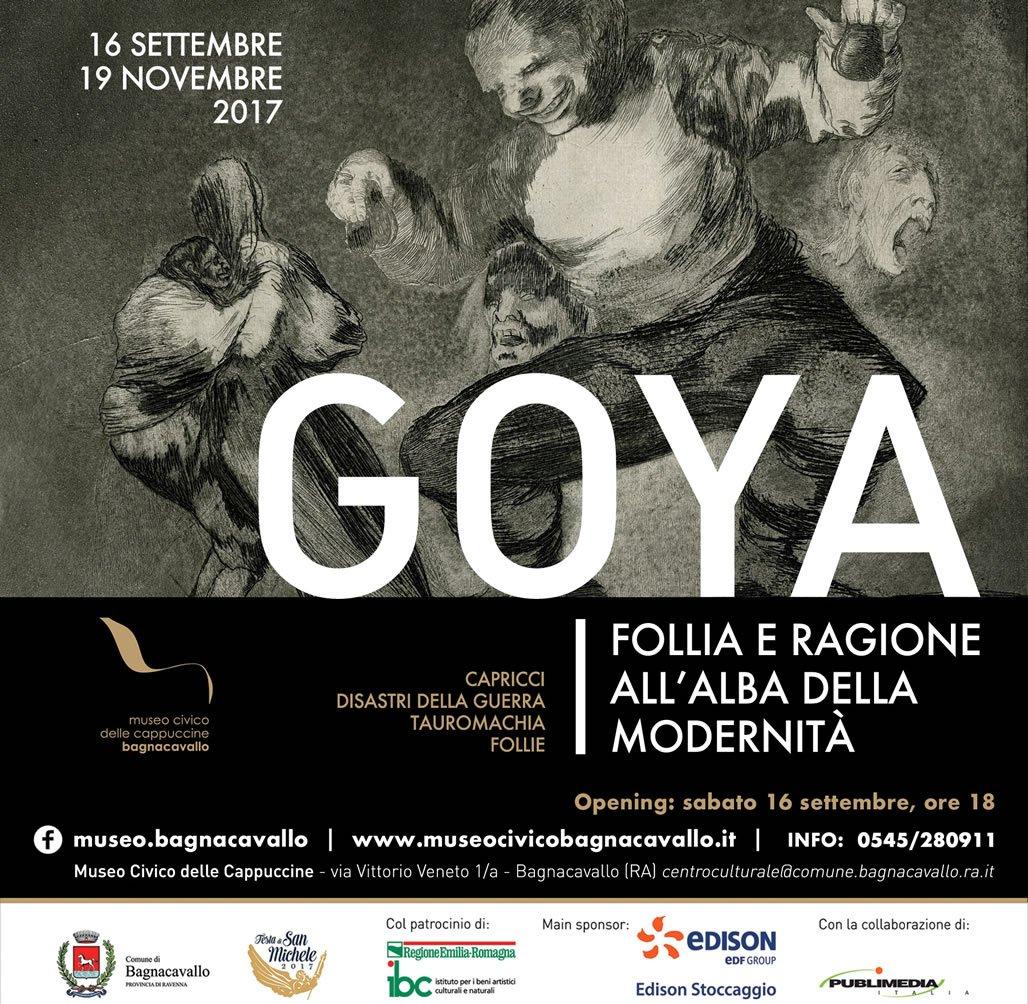 Goya. Follia e ragione all'alba della modernità rimarrà aperta dal 16 settembre al 19 novembre 2017.