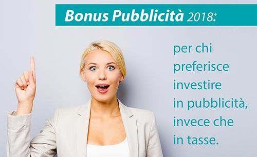 Bonus Pubblicità 2018